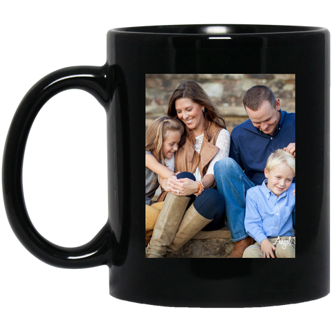 BM11OZ 11 oz. Black Mug test sloan - Topmazing