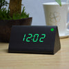 Image of Triangle Wooden LED Alarm Clock