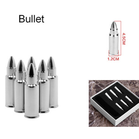 Stainless Steel Bullet Whiskey Stones Ice Cubes for cooling drinks - Topmazing
