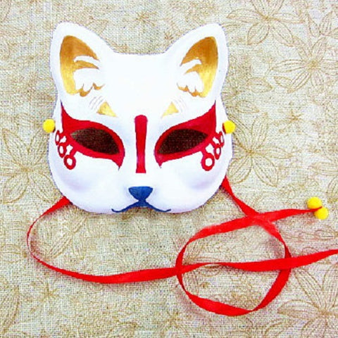Half Face Japanese Fox Mask