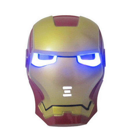 LED Glowing Ironman Super Hero mask - Topmazing
