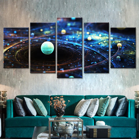 The Vast Universe Canvas (5 Pieces) - No Framed