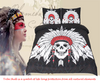 Image of Cool Tribe Skulls Duvet Set - Topmazing