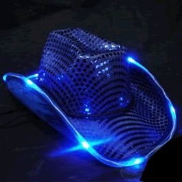 LED Flashing Cowboy Hat