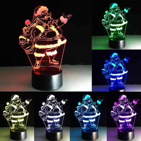 Santa Claus 3D Night Light