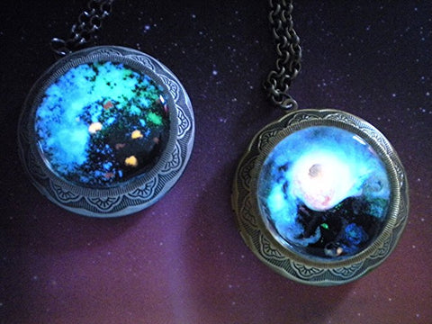 Glow Galaxy Map Pendant