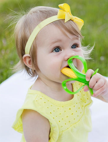 Corn Infant Toothbrush and Teether - Topmazing