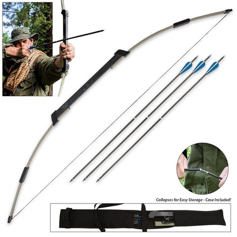 Compact Folding Survival Bow - Topmazing