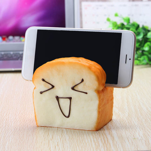 Toast Squishy Cellphone Holder