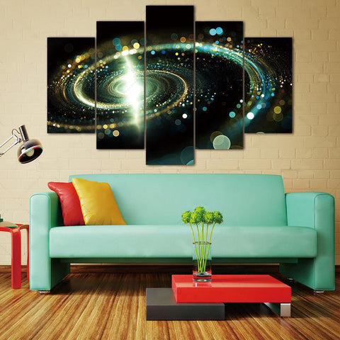 Space Universe Canvas (5 Pieces) - No Framed
