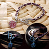 Image of European Atlantis Braided Leather and Crystal Ball Pendant bracelet - Topmazing