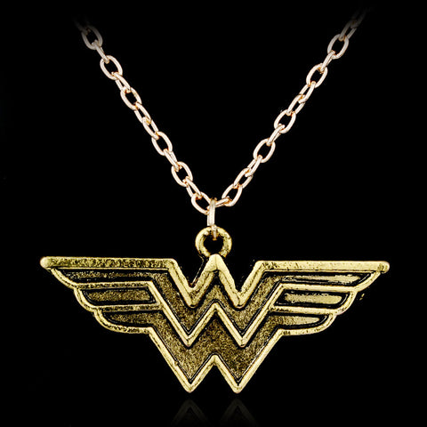 Wonder Woman Gold Necklace - Topmazing