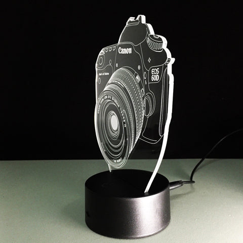 Camera 3D LED Lights - Topmazing