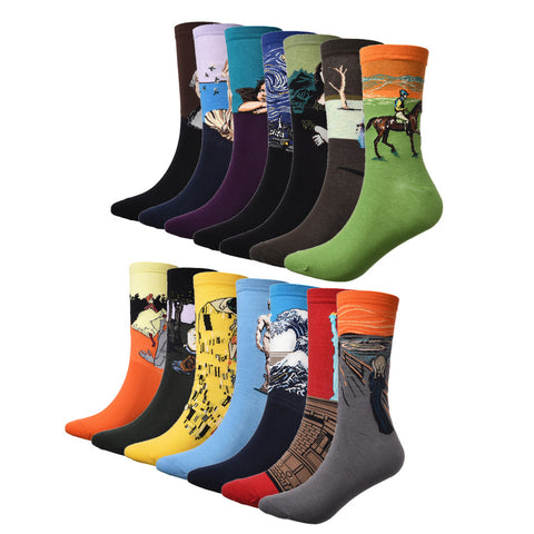 Art Abstract Painting Socks