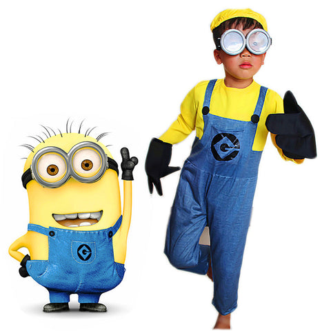 Kid's Minion Cosplay Costume Set
