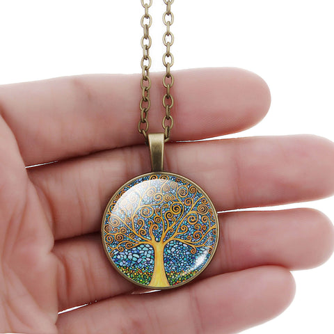 Fashionable Tree of Life Pendant Necklace - Topmazing