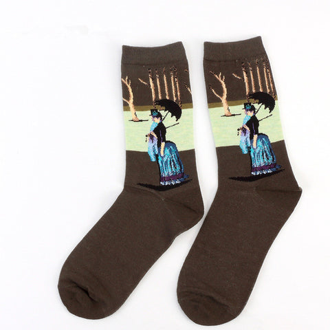 Art Abstract Painting Socks - Topmazing