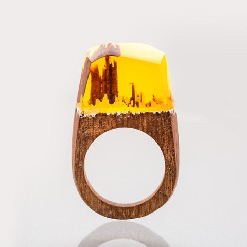 Unique Colorful Snowy Moutain Handmade Ring
