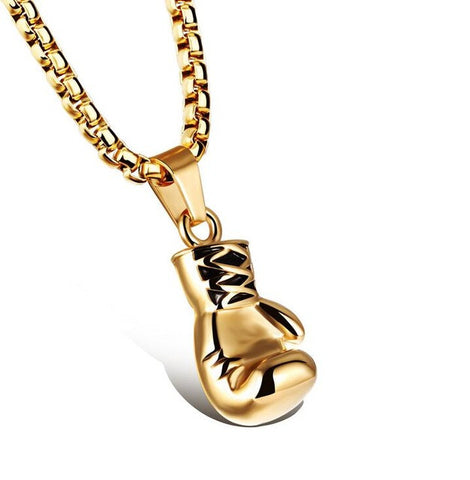 Luxury Boxing Glove Pendant Necklace