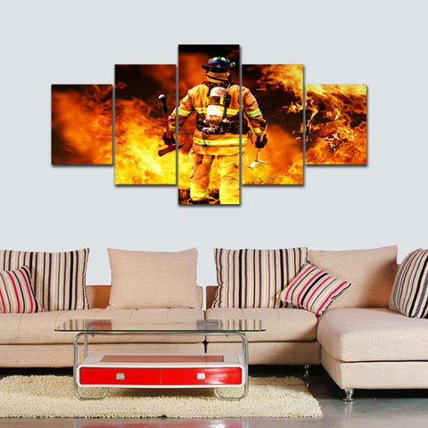 Hero Firefighter Canvas (5 Pieces)