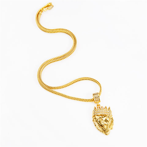 Alpha Lion - Gold Plated Necklace Pendant - Topmazing