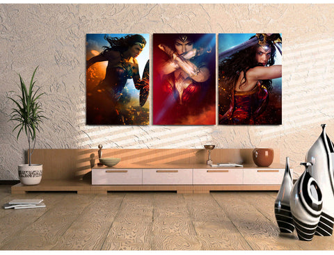 Wonder Woman Canvas (3 Pieces) - Topmazing