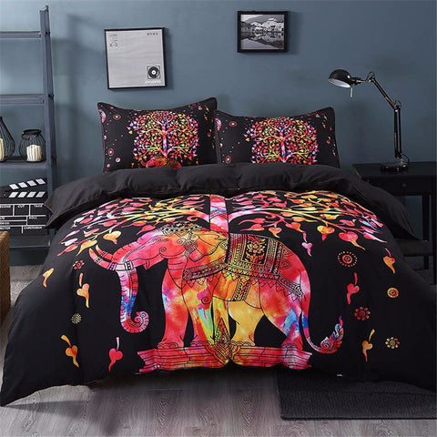 Hindu Elephant and The Tree Of Life Bedding Duvet Set