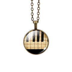 Piano Pendant Necklace - Topmazing