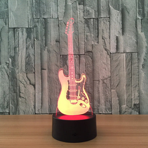 Electric Guitar 3D Led Lights - Topmazing