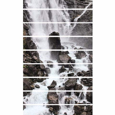 3D Waterfall Stairway Sticker - Topmazing