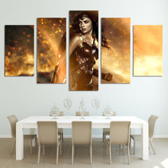 Wonder Woman Canvas (5 Pieces) - Topmazing