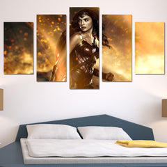Wonder Woman Canvas (5 Pieces)
