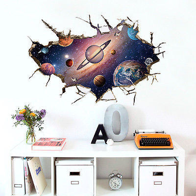 3D Galaxy Wall Removable Sticker - Topmazing