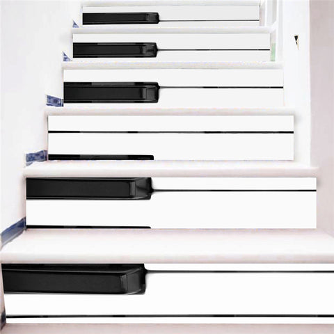 3D Piano Stairway Stickers (6pcs) - Topmazing