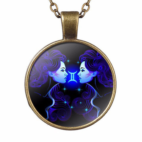 Mysterious Zodiac Sign Pendant Necklace