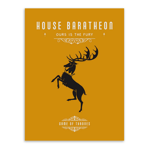 Game Of Thrones House Canvas (No Frame)