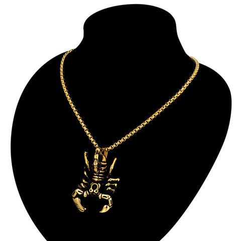 Vintage Scorpion Pendant Necklace