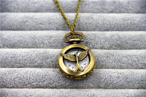 Vintage Mockingjay Pocket Watch