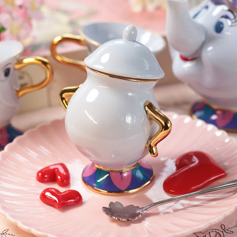 Beauty And The Beast Teapot Set - Topmazing
