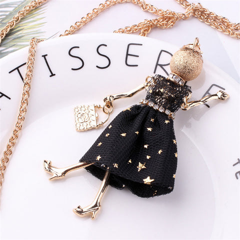 Doll Long Chain Necklace - Topmazing