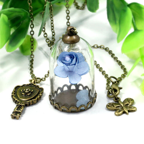 Beauty and the Beast Rose Necklace - Topmazing