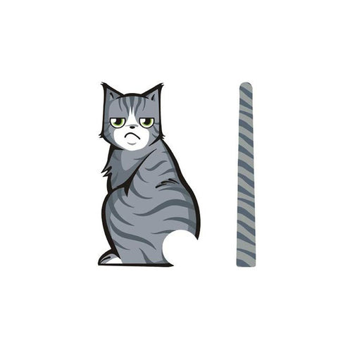 Moving Cat Tail Window Decal
