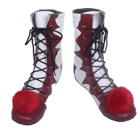 Killer Clown Mask and Boots Costume