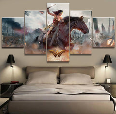 August Wonder Woman Canvas (5 pieces) - Topmazing