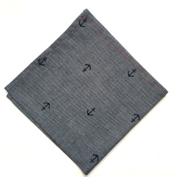 Anchors Aweigh - FAIR+SQUARE POCKET SQUARES