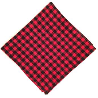 Lumberjack Flannel x mini check - FAIR+SQUARE POCKET SQUARES