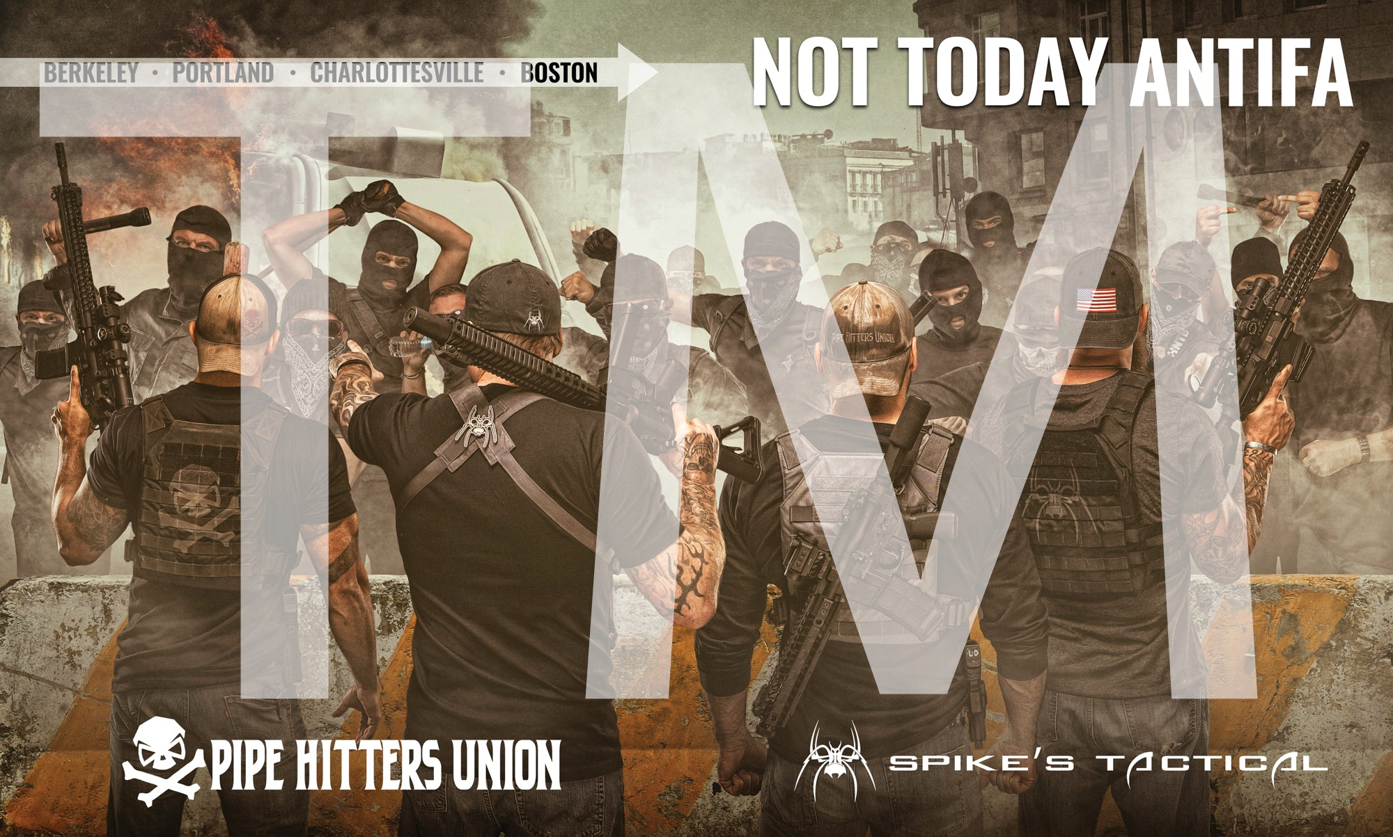 Not Today ANTIFA Poster
