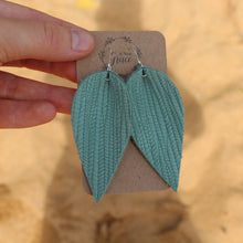 Seafoam Leaf Earrings