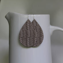 Warm Grey Teardrop Earrings