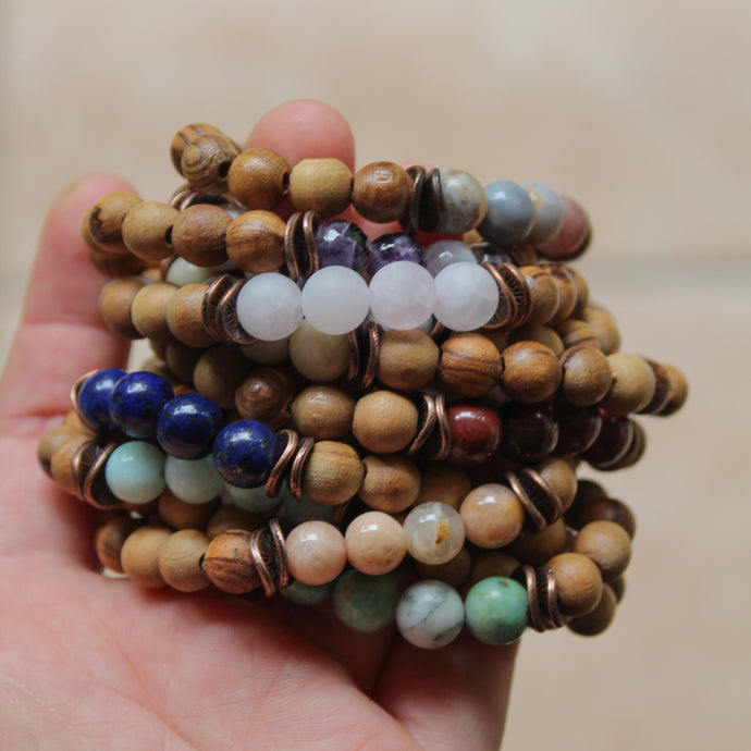Native | Gemstone & Olive Wood Bracelets